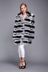 1706025 rex rabbit fur chinchilla fur coat with hood eileenhou 15