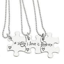 puzzle piece necklace for 3 friends