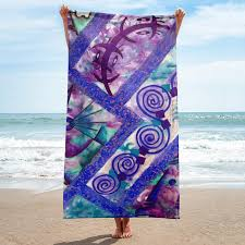Designer Beach Towels Beach Towel Boho Designer Jonique Look Mee Blu Beach