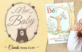 New Baby Cards Personalised Birth Announcement Cards