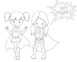 Small Picture Superhero Coloring Pages In Girl glumme