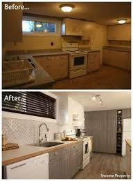 basement kitchen ideas. Delighful Ideas A Grungy Basement Kitchen Gets An Income Property Makeover HGTV Throughout Basement Kitchen Ideas