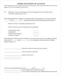 7 Sworn Statement Form Sample Free Sample Example Format Download ...