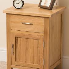 boston solid oak small bed side table unit 1 drawer 1 door