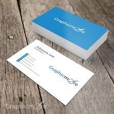 Simple Minimal Business Card Template Design Free Psd File