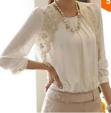 Lace <b>Chiffon Blouse</b> Top | Fashion, Clothes for women, Clothes