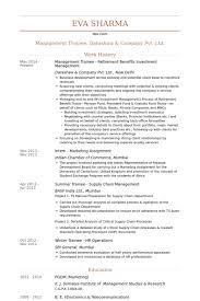 Management Trainee Retirement Benefits Investment Management Resume samples