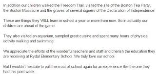 absence from school letter dad writes excellent letter to principal defending children s