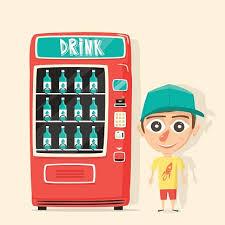 Vending Machine Cartoon Delectable Vintage Vending Machine With Retro Cartoon Stock Vectors 48PSD