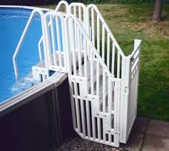 above ground pool deck kits. Confer Above Ground Pool Step Enclosure Kit From InTheSwim.com Above Ground Pool Deck Kits Y