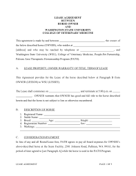 Lease Agreement In Word And Pdf Formats