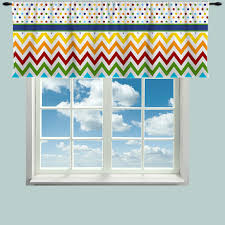 custom window curtain or valance rainbow multi color by redbeauty