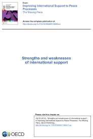 strengths and weaknesses of international support oecd edition