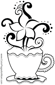 coffee coloring page. Plain Page Starbucks Cup Coloring Page Coffee Pages Colouring  On P