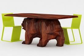 Creative furniture design Amazing Natural Wood Creative Furniture Design Concept Bear Table Freshomecom Creative Furniture Design Concept Bear Table Freshomecom