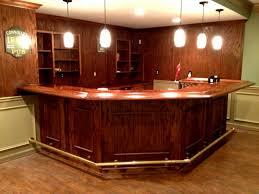 Creativity Basement Corner Bar Ideas With Wooden Countertop Nad Lanterns