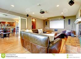 Large Living Room Furniture Large Luxury Living Room Home Theater Stock Photo Image 25082840