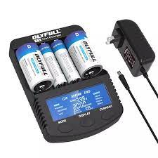 DLYFULL T5 akıllı pil şarj aleti için 3.7 V Li ion 18650 RCR123A 32650  21700 ve 1.2 V Ni MH AA AAA C D Süper hızlı Şarj Cihazı|Chargers