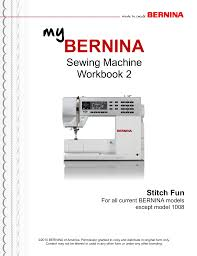 My Bernina Workbook 2 Stitch Fun Manualzz Com