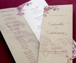 Wedding Ceremony Program Cover Wedding Ceremony Programs Invitations By Ajalon