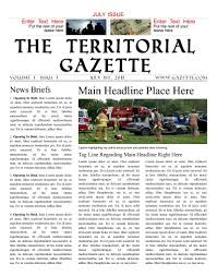 Free Front Page Newspaper Template Design Content And How To Guides Create Your Own Newspaper