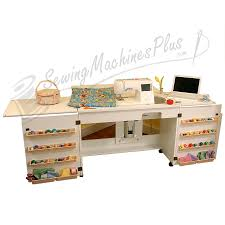 Sylvia Sewing Cabinets 98701 Bertha Sewing Cabinet For Large Machines White Finish