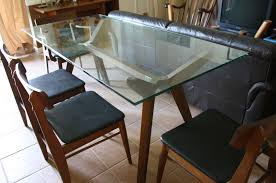 rectangle glass dining room table. Dining Room. Rectangle Glass Table With Brown Wooden Legs Combined Chairs Room