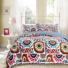bohemian chic bedding wildfire gardens reversible cotton bohemian quilted coverlet bedspread set multi colorful