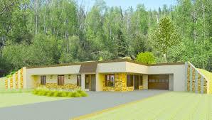 100  Hillside Home Plans   100 House Plans Walkout Basement Earth Contact Home Plans