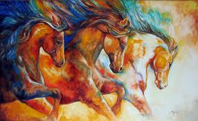 wild horse run 60 x 36 available now during my studio marcia baldwin