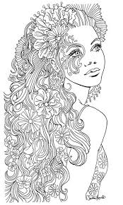 797 Best Beautiful Women Coloring Pages For Adults Images On