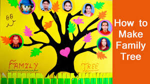 Family Tree For Kids Project How To Make Your Own Simple Family Tree For Scrapbook