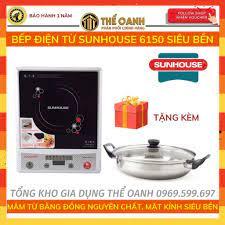 Bếp từ [FREESHIP] Bếp điện từ, bếp lẩu SUNHOUSE SH6150 - Tặng kèm nồi lẩu  chính hãng