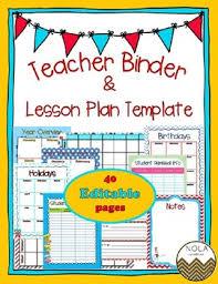 Teacher Binder Templates Dr Seuss Inspired Teacher Binder Lesson Plan Template Editable