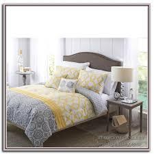 yellow and gray comforter sets