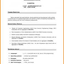 Resumes Objectives Sample Resume Objectives For Freshers Fresh Resume Career 54