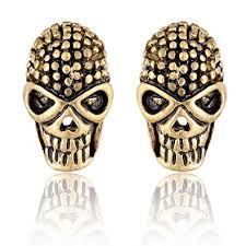Sullery <b>Punk</b> & Rock Skull <b>Gothic</b> Style Gold Stainless Steel Stud ...
