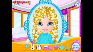 Baby Barbie Frozen Hair Salon Frozen Game Movie Top Baby Games