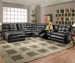 motion sectional sofas within most popular luxurious tufted leather sectional sofa in classy black color with