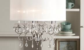 drum chandelier shades stunning fabric shade chandeliers lamp extraordinary material hanging crystal and white pretty pendant shocking elegant bedroom