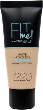 maybelline new york fit me matte poreless face foundation 1 01 oz 220 natural beige