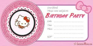 Hello Kitty Invitations Free Printable Templates