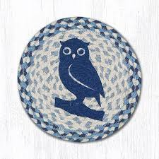 details about blue owl 100 natural jute swatch 10 trivet placemat by earth rugs