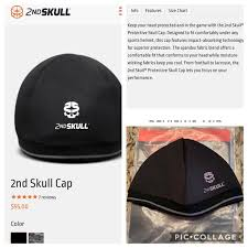 The Game Headwear Size Chart 2nd Skull Youth Football Protective Head Cap Nwt