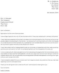 Care Assistant Cover Letter Example Icover Org Uk