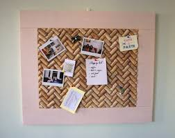 Large Pink Framed Cork Board with Recycled Wine Corks