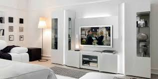 Contemporary tv wall unit wooden lacquered wood armonia