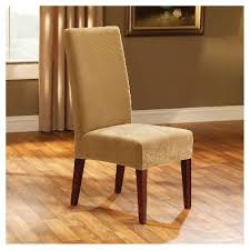 stretch pique short dining chair slipcover sure fit antique