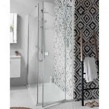 simpsons design hinged shower door with inline panel optional side panel