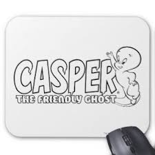 casper ghost logo. casper the friendly ghost logo 2 mouse pad